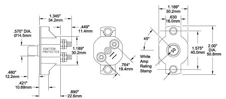 Push button circuit breaker for 50 Amps