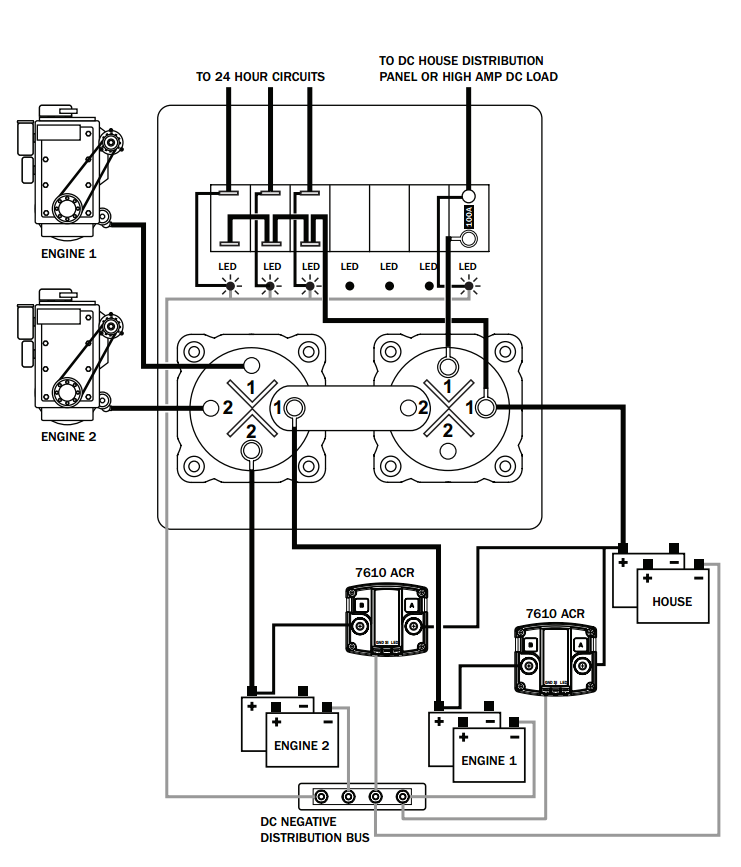 blue sea dual battery switch wiring diagram
