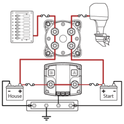 Wiring Diagram Dual Battery System Rj45 Socket Uk Blue Sea Systems Add A With Acr And Switch P N 7650 Circuit Showing Combined