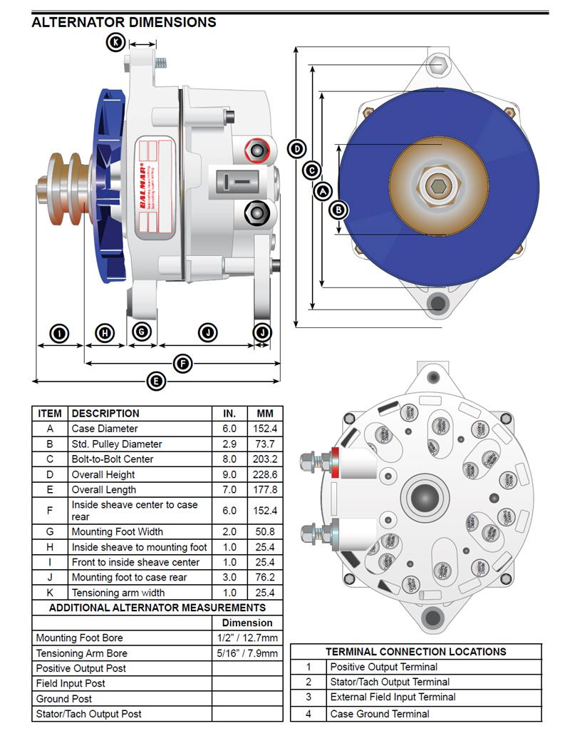 blue sea add a battery wiring diagram golf 3 radio balmar 94ly-210-12-ig large case alternator for yanmar 6ly engines