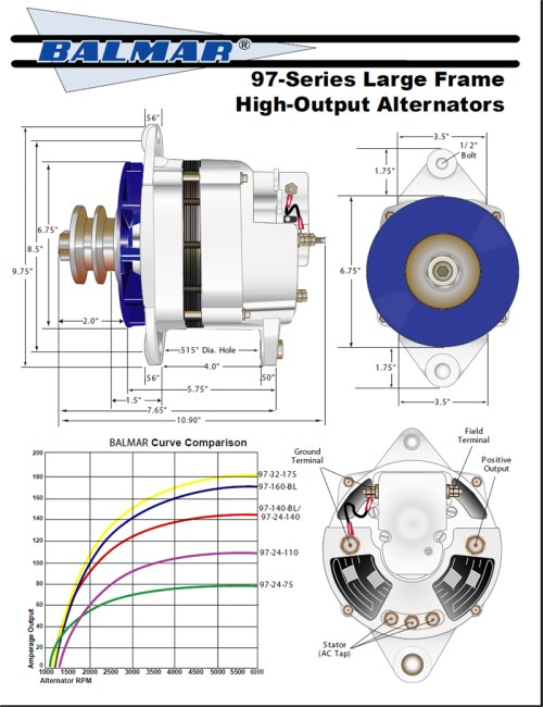 small resolution of alternator wiring diagram on delco one wire marine alternator wiring