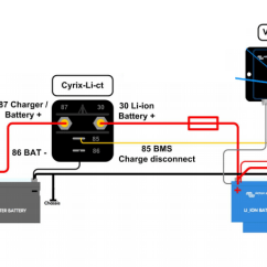 Dual Battery Setup Boat Diagram Sony Xplod Cdx Gt210 Wiring Adding An Alternator To Your Lithium Ion Requires A In The Layout Above Is Charging Conventional Start At All Times Connected Via
