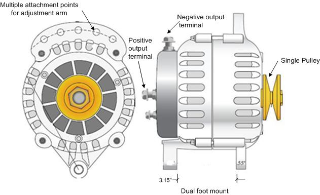 automotive alternator wiring diagram 98 ford ranger fuse installing a high power marine on your boat