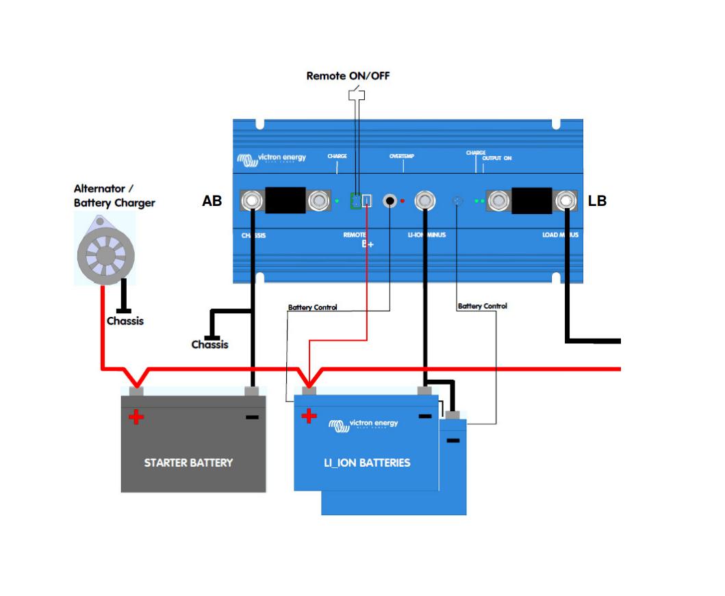 bms system wiring diagram 2003 trailblazer fuse box adding an alternator to your lithium ion battery setup