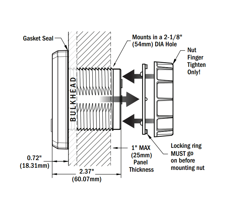 Blue Sea 1834 Panel mount DC digital multimeter with OLED