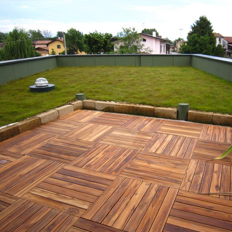 Pavimentazione in legno per esterni  Listoplate Teak