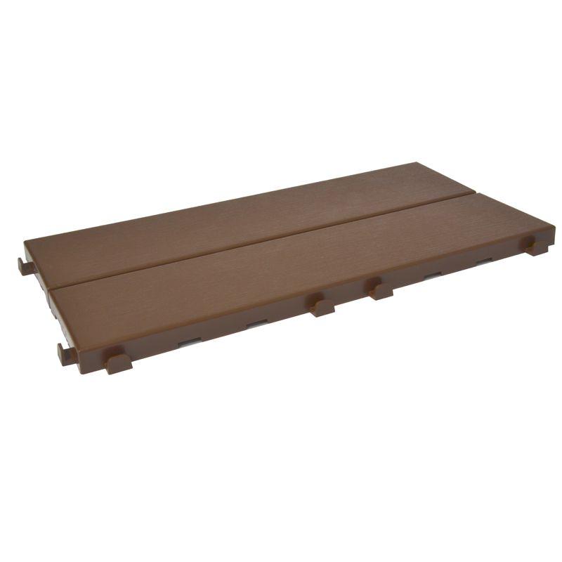 Pavimentazione in plastica per esterno finto legno