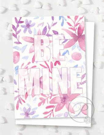 BE MINE VALENTINES GREETING CARD LAYOUT