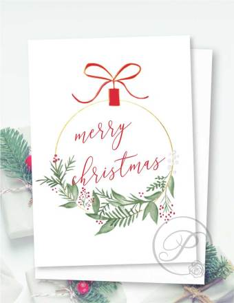 CHRISMAS ORNAMENT CARD GREETING CARD LAYOUT