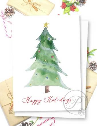 CHRISMAS TREE GREETING CARD LAYOUT