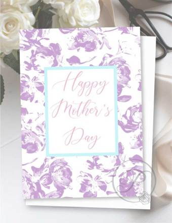 FLORAL MOTHERS DAY GREETING CARD LAYOUT