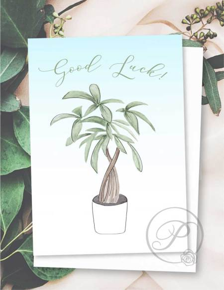 GOOD LUCK GREETING CARD LAYOUT