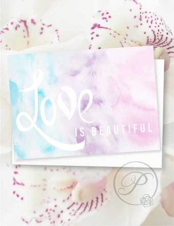 LOVE IS BEAUTIFUL GREETING CARD LAYOUT