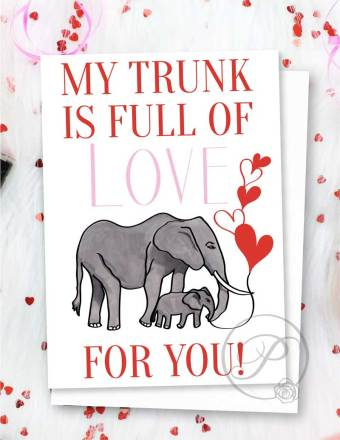 MY TRUNK IS FULL OF LOVE GREETING CARD LAYOUT