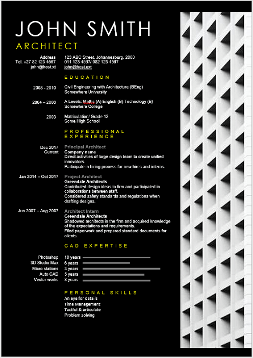 Architect-CV Template Cover Letter Marketing Architect Cv Sample Ynwddz on