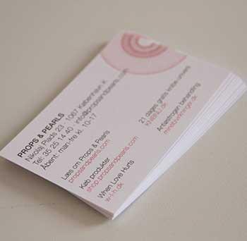 Visitkort til Props & Pearls