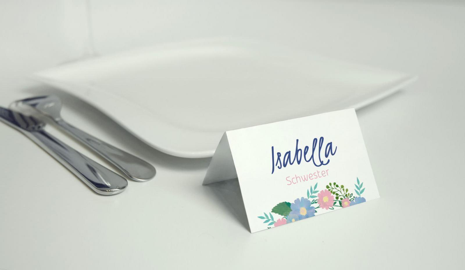 TischkartenVorlagen Hochzeit