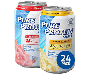 Pure Protein 24 Pack Banana Strawberry Cream Pack