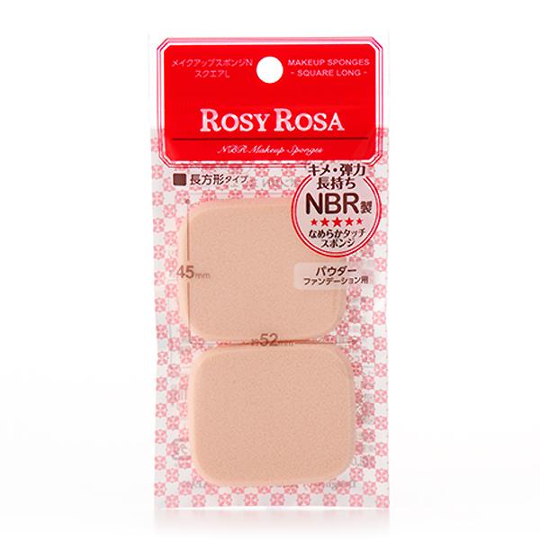 【超人氣產品】ROSY ROSA 柔彈系粉餅粉撲(長方形) 2入