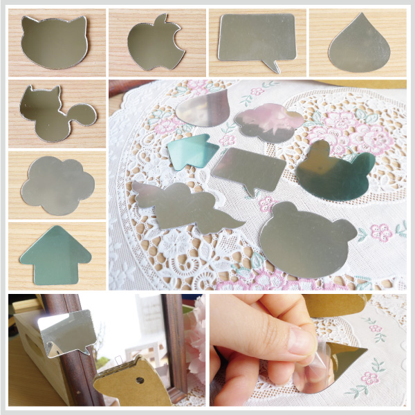 【aife life】韓版多款造型鏡面貼/隨身鏡子貼Mirror Stickers卡通手機鏡子貼紙   AIFE生活網 - 樂天市場