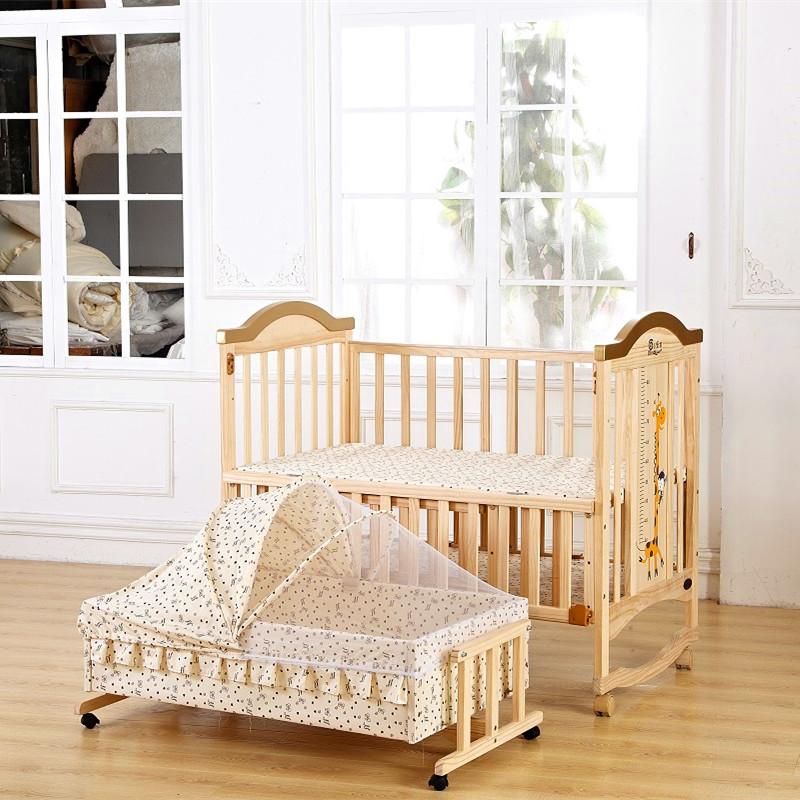 嬰兒床 實木嬰兒床 加大嬰兒床 搖籃 床圍 床護欄 遊戲床 可變書桌 搖床 附贈蚊 小床   快樂奶爸 - Rakuten樂天市場