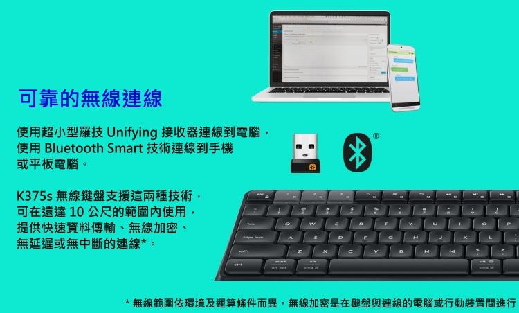 【精選】Logitech 羅技 K375s Multi-Device 無線鍵盤支架組 跨平臺無線/藍牙推薦