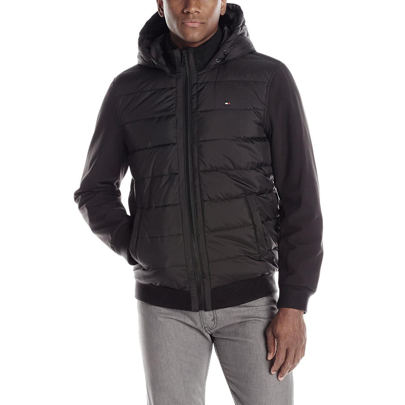 美國百分百【全新真品】Tommy Hilfiger 外套 連帽 夾克 中空纖維 TH 透氣 保暖 黑色 M號 F781 | 美國百分百 - Rakuten樂天市場