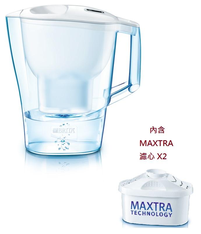 PTT網友推薦好物 介紹 德國BRITA 2.4公升Aluna CL愛奴娜透視型濾水壺【內含二支MAXTRA濾芯】經典