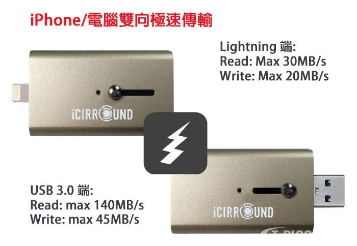 【搶便宜】三多2F iShowFast 32G 極速iPhone隨身碟 玫瑰金(iOS/PC/Mac適用)