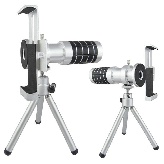 【2018必買商品】 TS7銀砲管 萬用型手機望遠鏡頭組(16倍光學變焦)