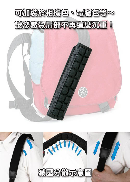 【生日送禮推薦】 [享樂攝影]韓國製 Aircell ASP-18N 通用型舒壓背帶肩墊 氣墊 減壓 相機包 電腦包 ASP18N鄉民秒殺