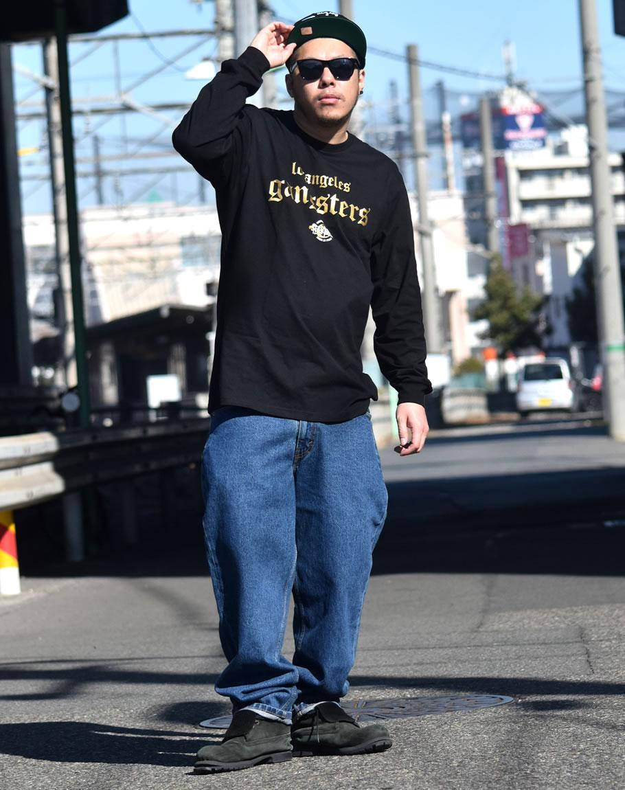 【楽天市場】【ネコポス対応】 b系 ロンt ロングtシャツ メンズ B系 ファッション ギャングスタ 大きい ...