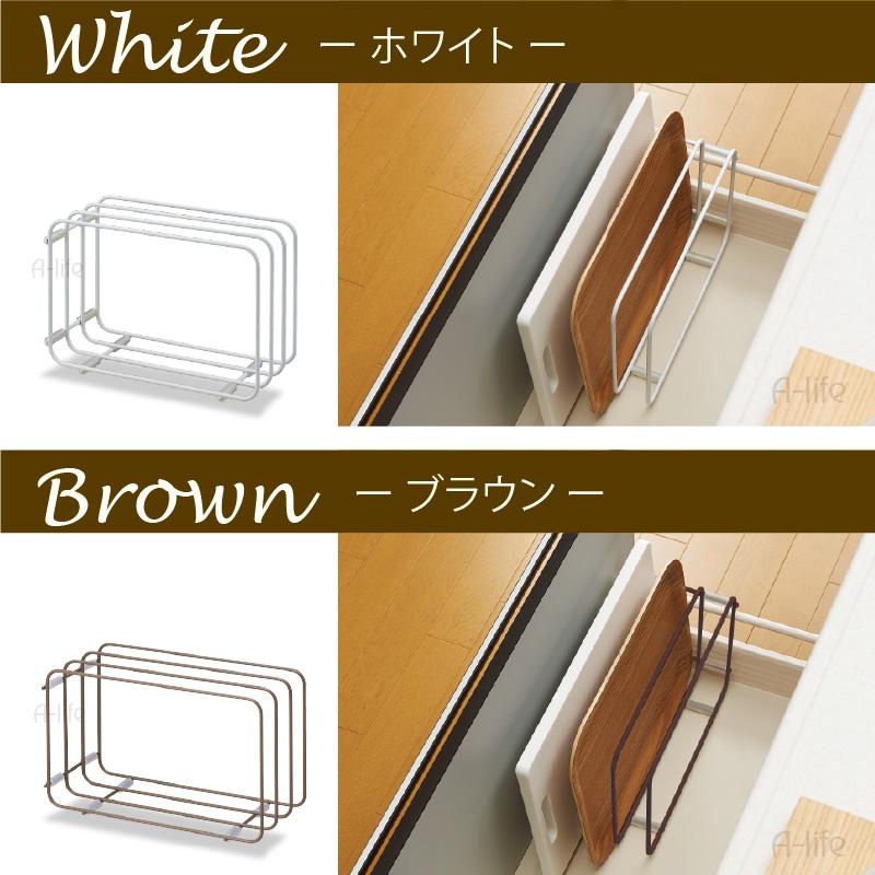 brown kitchen sink decor ideas on a budget life2010 切割板布2 路站白色棕色厨房水槽下的抽屉里存储厨房衣架砧板 キッチンシンク下まな板ふきん2way収納ホワイトブラウン