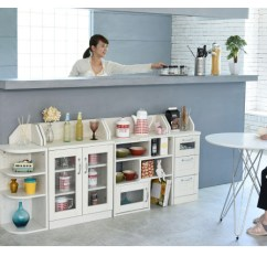 Kitchen Counter Rack Breakfast Nooks For Small Kitchens A Life2010 The Height 80 Dining Storing Thin Lower To Apply Space Under In Corner That Design Of Woodgraining Bringing On Atmosphere Is