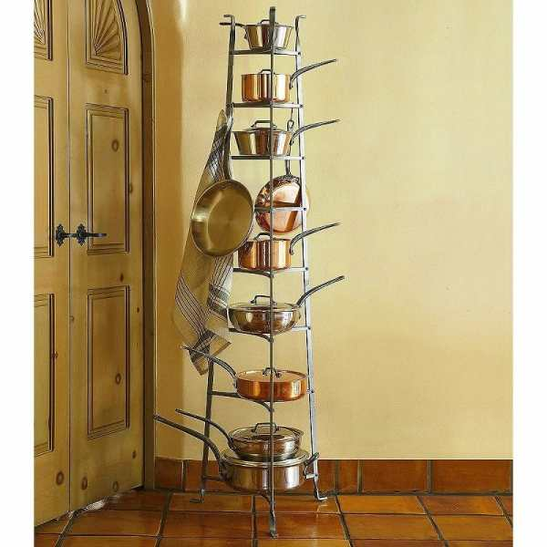 Alphaespace Cookware Stands Pan Whatnot Eight Steps Enclume Cws8 8-tier Stand
