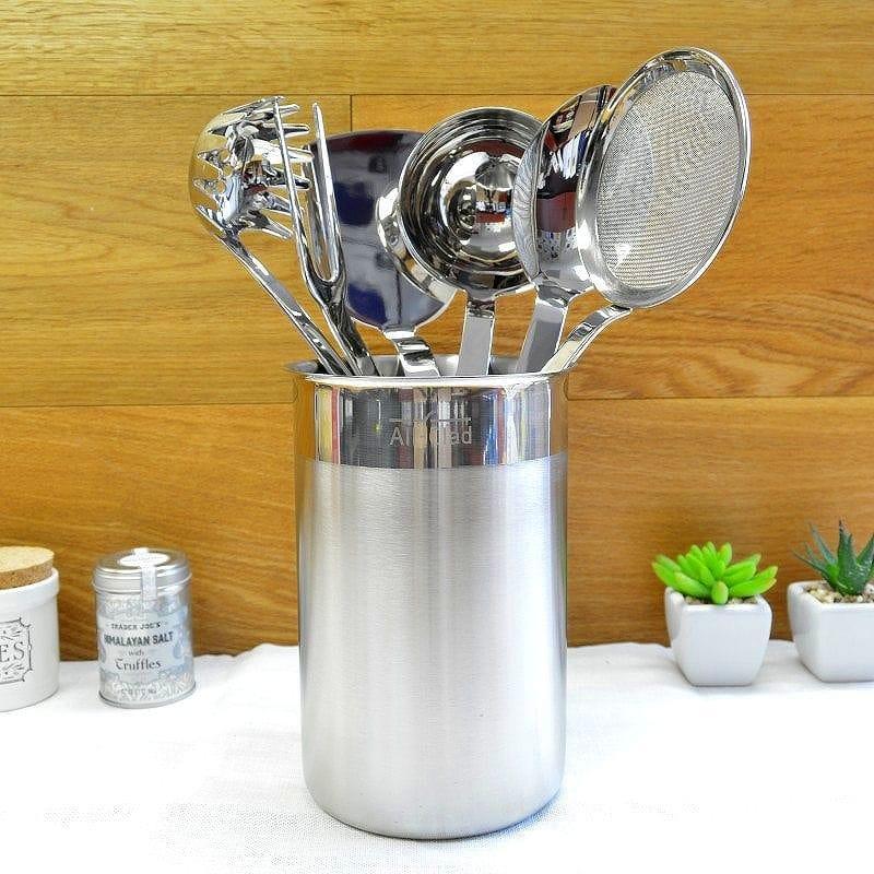 kitchen tool set black cabinet pulls alphaespace 所有复合威廉姆斯索诺玛不锈钢烹饪用具的厨房工具7 点集 点