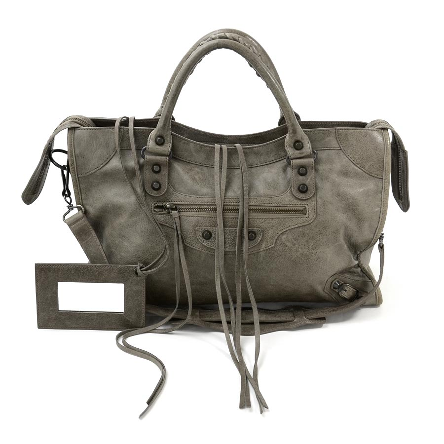BrandValue: 巴倫西亞蛾BALENCIAGA手提包挎包2Way包這個城市棕色派皮革女士-88462 | 日本樂天市場