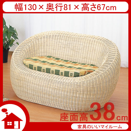 2 seater love chair round reading auc 11myroom rattan cane furniture sofa two seat ラタン ソファ ソファー 2人掛け 籐椅子 sh38cm ラタン家具 imy703