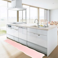 Pink Kitchen Rug Wall Art For The Bigone 耐水洗风格厨房地毯长宽粉红色粉红色白色白色粉色可爱可爱少女特 耐水洗风格厨房地毯长宽粉红色粉红色白色白色粉色可爱可爱少女特格伦德北欧厨房产品防滑抗菌洗