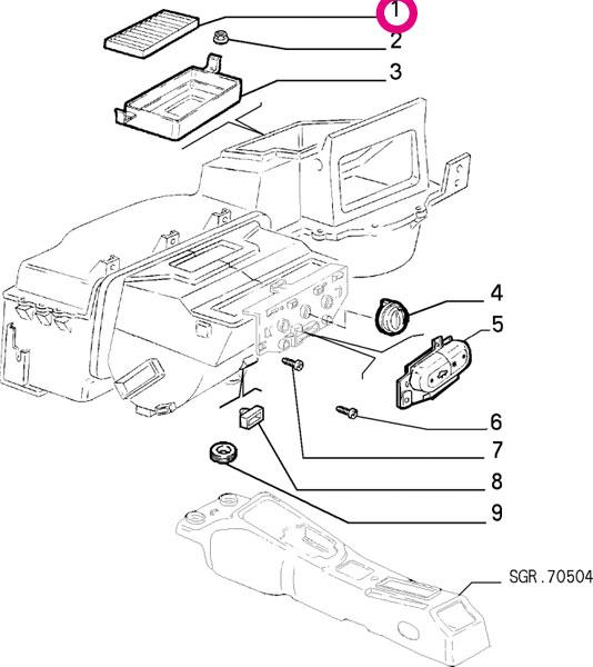 【楽天市場】Alfa Romeo 156スポーツワゴン 932B1用 エアコンフィルター(右ハンドル車用
