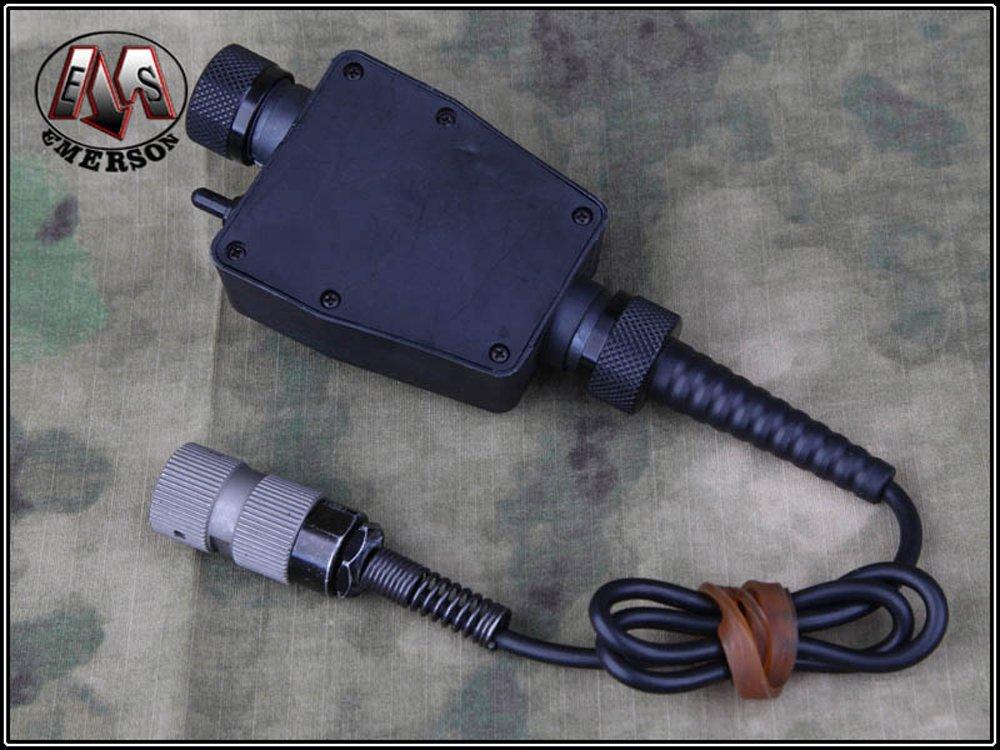 【楽天市場】EMERSON製 TEAタイプ PTTスイッチ 6PIN 軍事規格専用端子 黒:ST-MART
