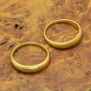 bonanzajewelry Ring K22 upper circle ring 22 gold yellow
