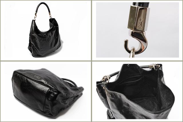 Import shop P.I.T.: YVES SAINT LAURENT挎包挎包洛迪專利皮革黑色228840   日本樂天市場