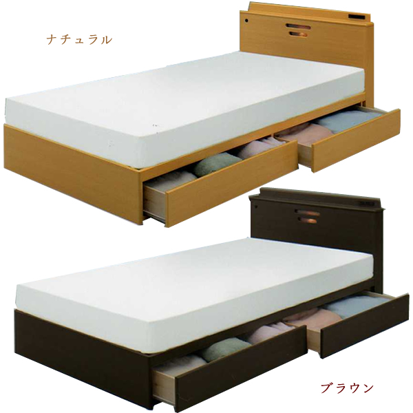 Single Bed Frame Drawers Box With Slide Rail Size S Bedding Bedroom
