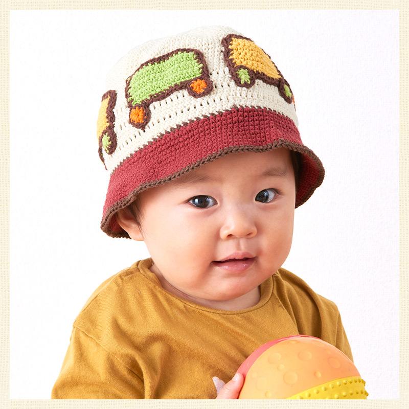 CasualBox: 嬰兒帽子針織帽子帽女孩男孩 uv 嬰兒的名字︰ 寶貝珀西手工棉帽子 | 日本樂天市場