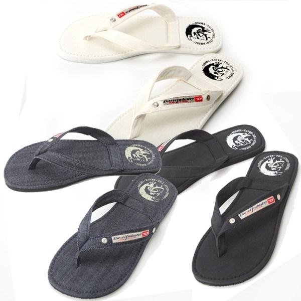 1c78187e5626 Men s Diesel Sandals Flip Flops Blue Denim Shoes Seaside. Select Cavallo  Rakuten Global Market Diesel