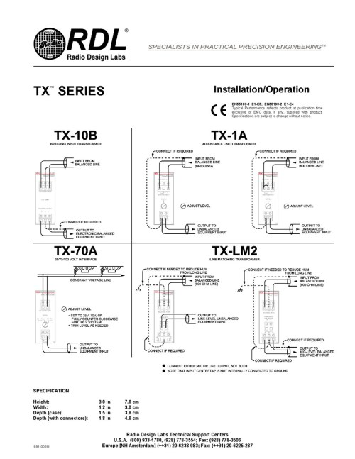 small resolution of  rdl tx 70a 25 v 70 v and 100 v speaker level input interface
