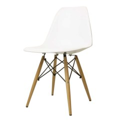Eames Chair White Ekornes Stressless Reviews Chaoscollection Dsw Gloss Without Shell