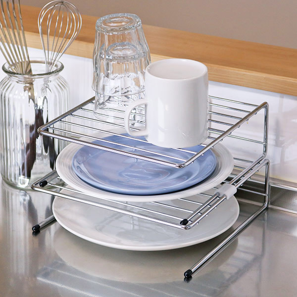 kitchen storage racks kraft maid cabinets colorfulbox dish plate wire mesh shelves early cupboard 10p07nov15