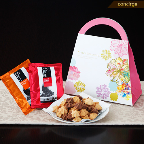 【楽天市場】プチギフト 退職 Rose merci ミックスクッキー&コーヒー ギフト プレゼント 退...